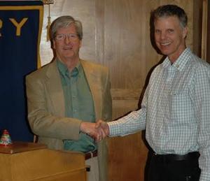 Lodi Mayor Mark Chandler visits Lodi Sunrise Rotary Club