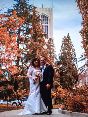 Phillip Cunha and Dana Noyes were married in October at Morris Chapel