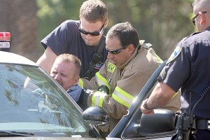 Lodi officer injured in car accident