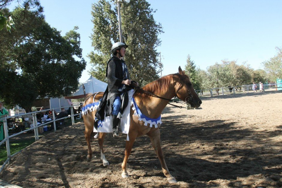 Medieval revelers gather for a tournament in Lodi