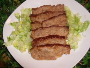 A meatloaf with a touch of sweetness