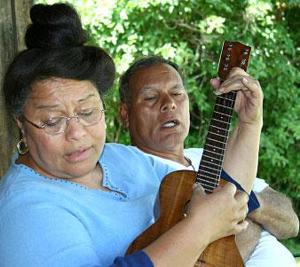Acampo couple teaching gospel hula