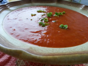 An end of the garden tomato soup
