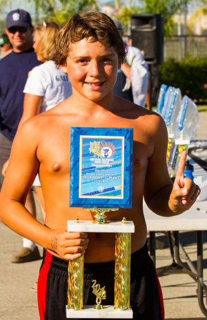 Joseph Lopez has record-breaking run at swim championships