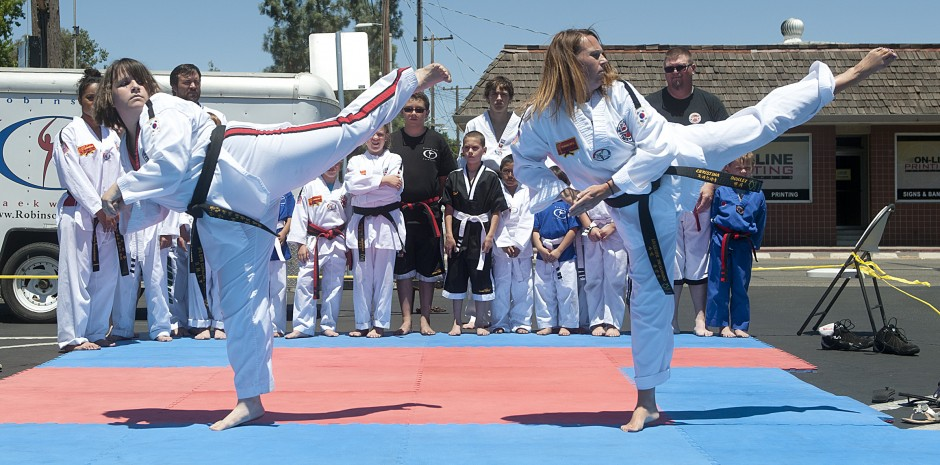 Robinson's Taekwondo demonstration