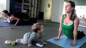 Calm frazzled nerves with a mom and baby yoga class