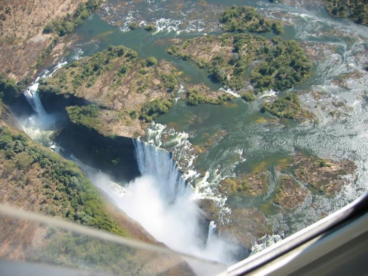 Helicopter ride over Victoria Falls, Zimbabwe