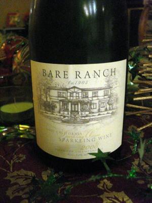 2008 Bare Ranch Lodi Sparkling Wine