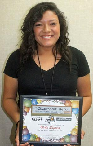 Lodi Middle School Classroom Heroes