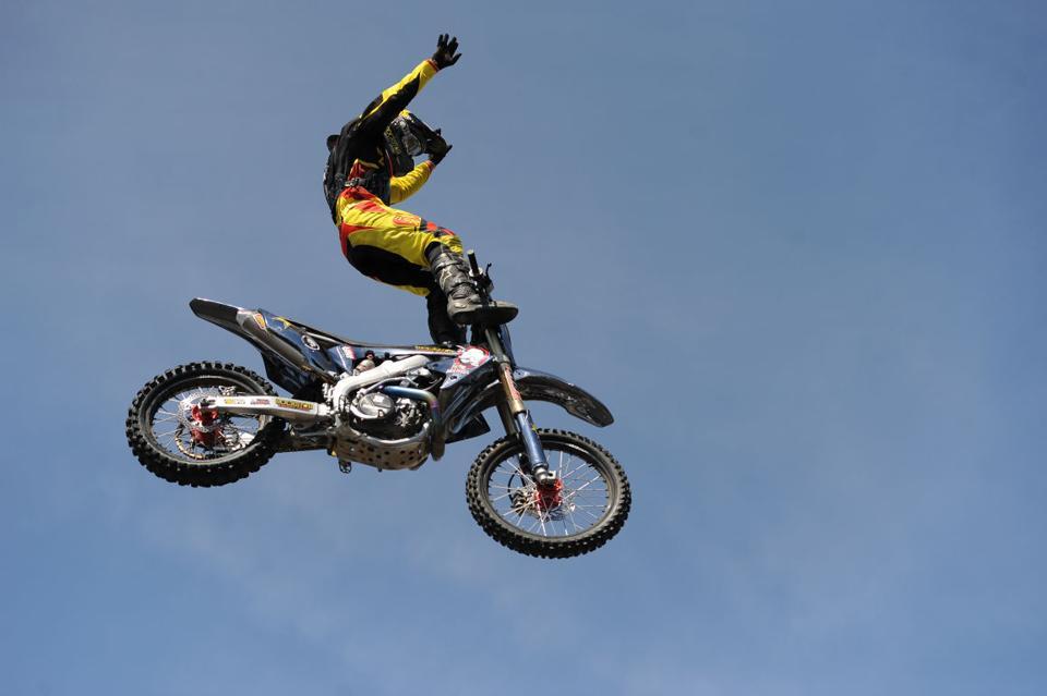 Double backflip motocross