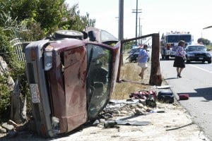 Man injured in single-vehicle roll-over