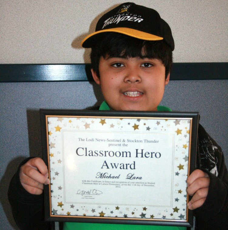 Larson Elementary School names Classroom Heroes