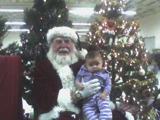 Baby's first time with Santa