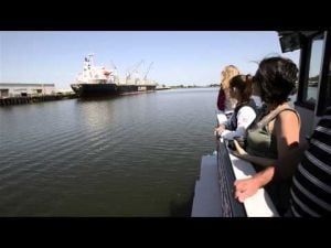 Boat tour of the Port of Stockton