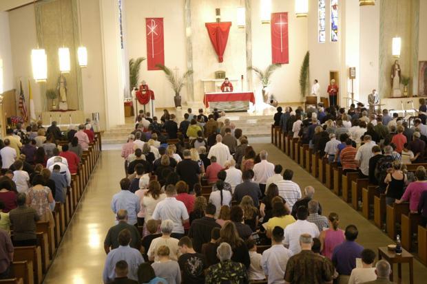 St. Anne's Catholic Church starts Holy Week with Palm Sunday service