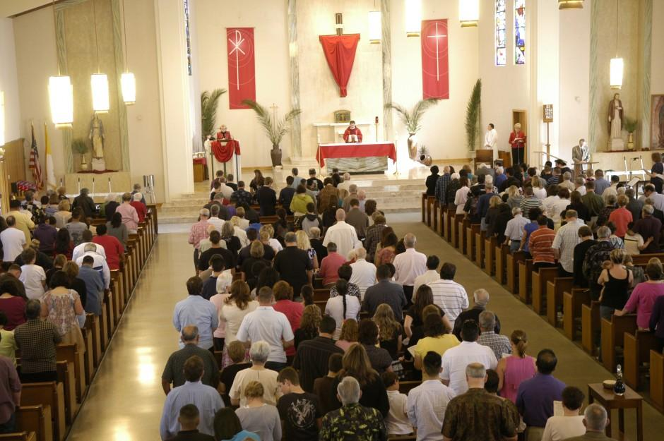 St. Anne's Catholic Church starts Holy Week with Palm Sunday service
