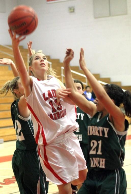 Galt Warriors shoot down the Liberty Ranch Hawks in varsity girls basketball