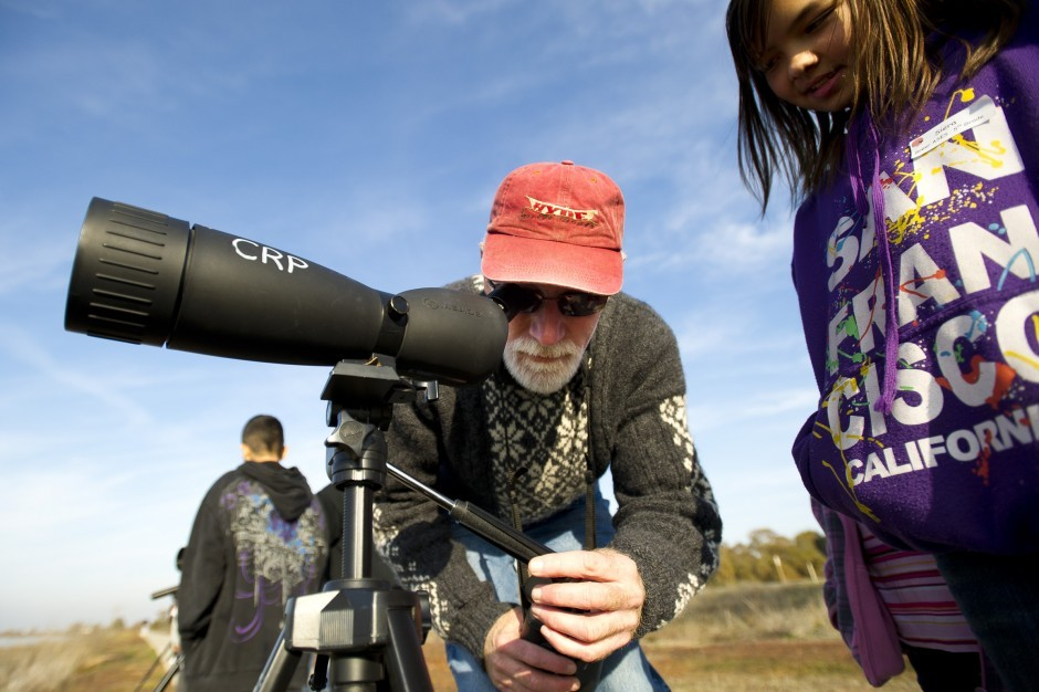Galt Winter Bird Festival co-founder John Durand enjoys bird watching