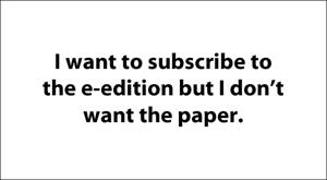 E-edition: Online-only