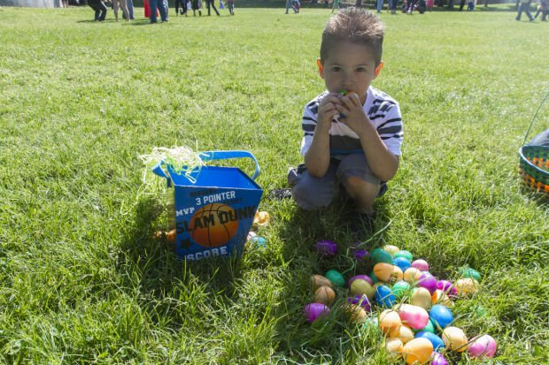 Hutchins Street Square Easter egg hunt