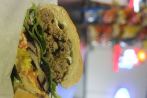 Specialty sandwiches and gluten-free menu at Nixons Deli