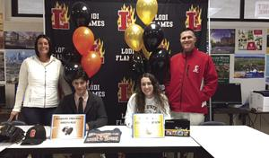 Pair of Flames sign to play college sports