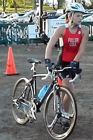 Lodi High School's Sopie Fuller wins age group at Napa Sprint Triathlon