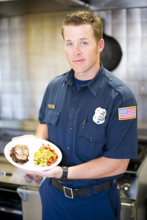 Lodi firefighter Kris Graves appears on Food Network show