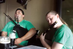 Friday night pipes at Ollie's Pub