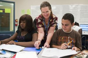 Teacher Martha Snider brings technology into the classroom