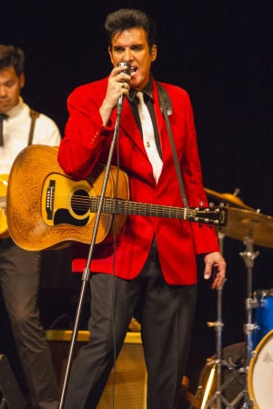 Photo: Elvis impersonator Scot Bruce performs at Hutchins Street Square