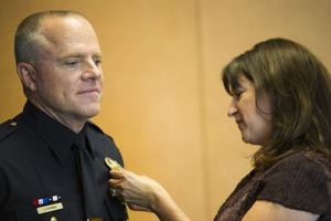 Lodi police officers Capt. Chris Piombo, Lt. Sierra Brucia receive promotions