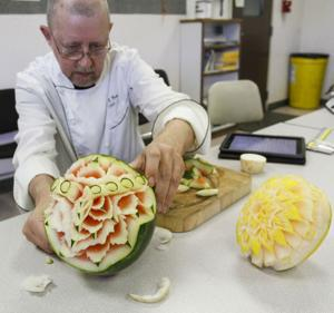 Lodi chef Ray Duey spends time carving unique designs out of food
