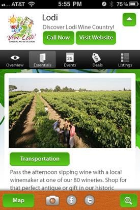 Visit Lodi!'s new smartphone application available in May