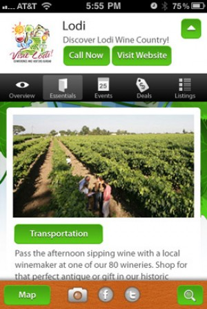 Visit Lodi!s new smartphone application available in May