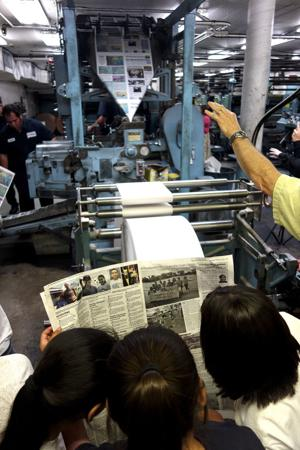 In the Lodi News-Sentinel pressroom, a giddy feeling