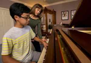 Piano teacher Karolyn McGladdery explains the Suzuki Method