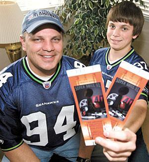 Local father, son realizing a dream with trip to Super Bowl