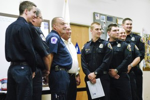 Clements resident Cliff Frazier thanks firefighters who saved his life