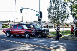 Photo: No injuries in two-vehicle collision in Lodi