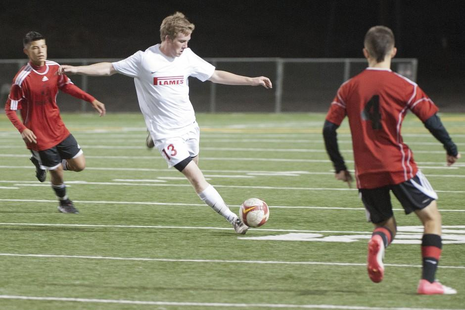 Flames settle for share of league title in varsity boys soccer