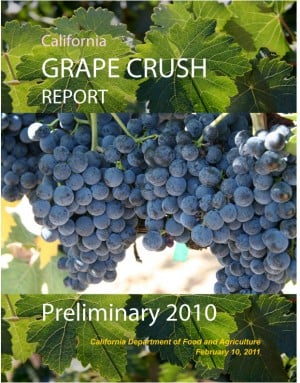 California's 2010 Grape Crush Report
