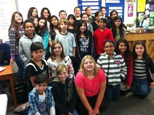 Student council in action at Beckman Elementary School