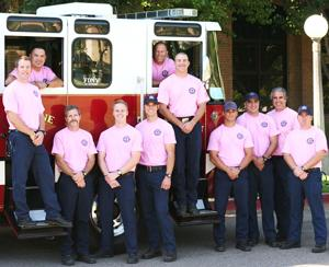 Lodi firefighters sport pink for a good cause