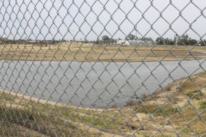 Storm drainage turns Pixley Park site into Lodi's newest lake