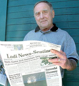 Irvin Bender has been having morning coffee with Lodi News-Sentinel since 1953