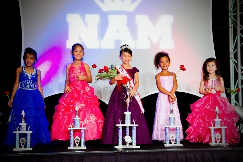 Ayana Wettstein on the stage at National American Miss Pageant