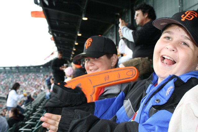 Our first SF Giants game