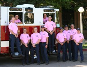 Lodi firefighters go pink for Breast Cancer Awareness Month