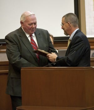 Outgoing Lodi Mayor Bob Johnson recognizes Partners, Lodi House